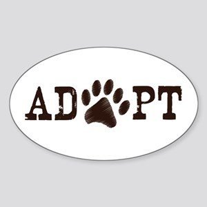 Adopt an Animal Sticker (Oval)