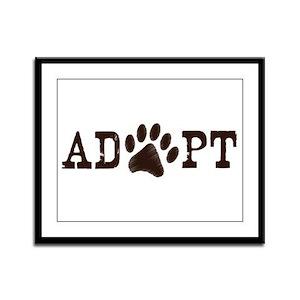 Adopt an Animal Framed Panel Print