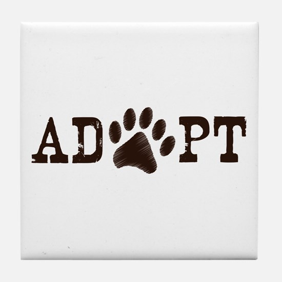 Adopt an Animal Tile Coaster