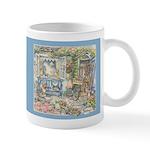 Kim Jacobs' Blue Garden Bench Mug