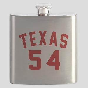 Texas 54 Birthday Designs Flask