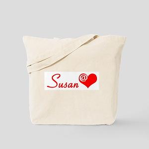 Susan @ Heart Tote Bag