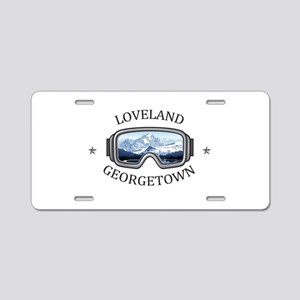 Loveland Ski Area - Georg Aluminum License Plate