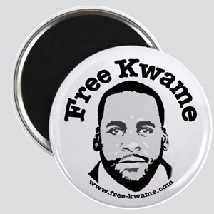 Free Kwame - Round Magnets