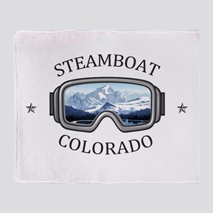 Steamboat Ski Resort - Steamboat S Throw Blanket