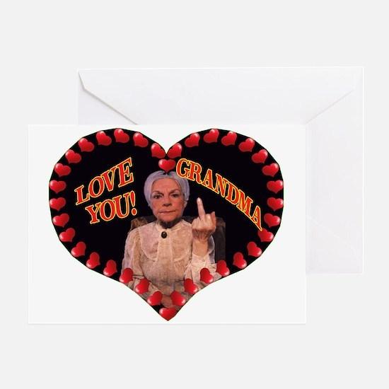 Greeting Card We Love You Grandma