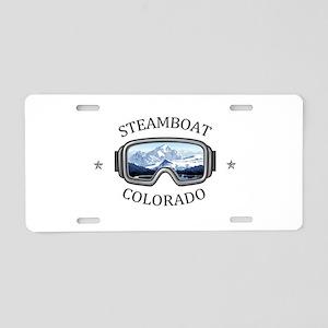 Steamboat Ski Resort - St Aluminum License Plate