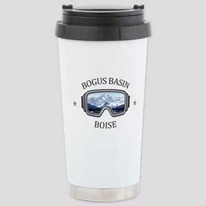 Bogus Basin - B 16 oz Stainless Steel Travel Mug