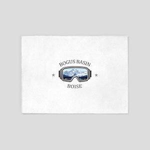 Bogus Basin Boise Idaho 5 X7 Area Rug