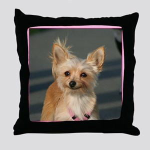 Happy Chihuahua Throw Pillow