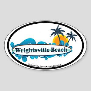 Wrightsville Beach NC - Surf Design Sticker (Oval)