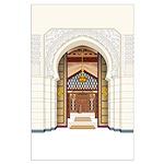 Moroccan Doors Large Poster