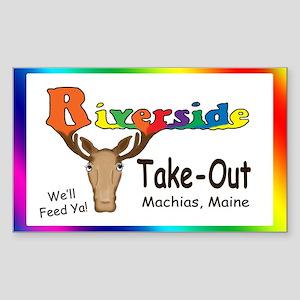 Logo_rainbow1Wide copy Sticker