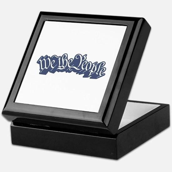We The People (Blue) Keepsake Box