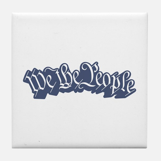 We The People (Blue) Tile Coaster