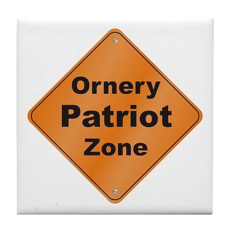Ornery Patriot Tile Coaster