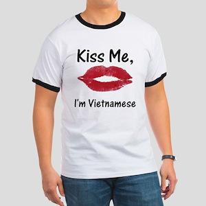 Kiss me, I'm Vietnamese Ringer T