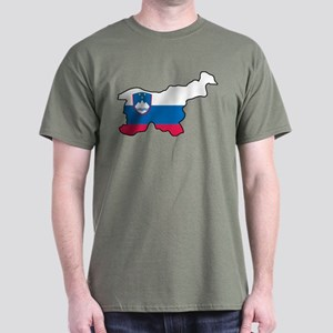 Map Of Slovenia Dark T-Shirt
