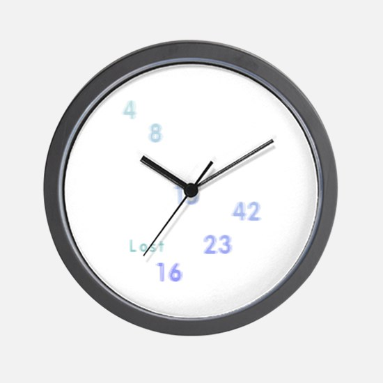 LOST numbers grey blue Wall Clock