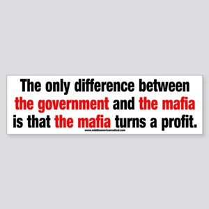 Government vs. The Mafia Sticker (Bumper)