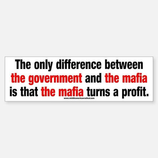 Government vs. The Mafia Sticker (Bumper)