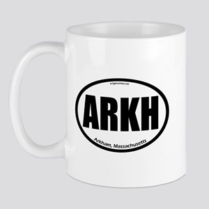 Arkham auto badge Lovecraft Mug