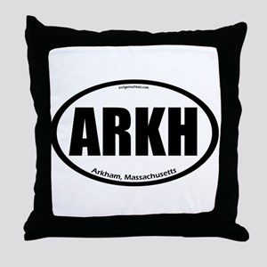Arkham auto badge Lovecraft Throw Pillow