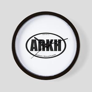 Arkham auto badge Lovecraft Wall Clock