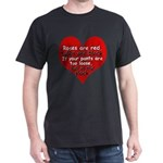 Anti-Valentine Black T-Shirt