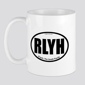 R'lyeh auto badge Lovecraft Mug