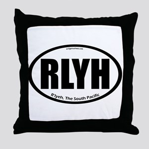 R'lyeh auto badge Lovecraft Throw Pillow