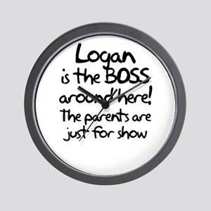 Logan is the Boss Wall Clock