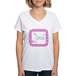 Portrait Bride Women's V-Neck T-Shirt