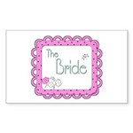 Portrait Bride Sticker (Rectangle)