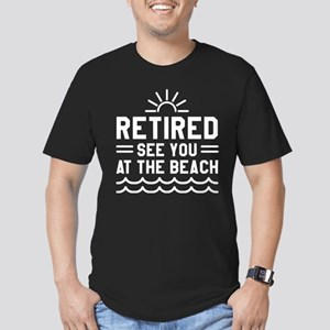 Retired See You At The Beach Men's Fitted T-Shirt
