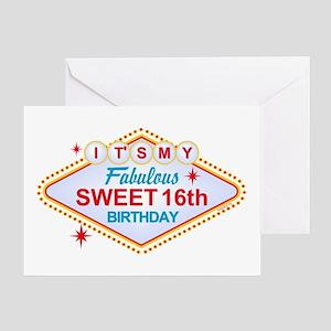 Las Vegas Birthday 16 Greeting Card