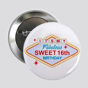 "Las Vegas Birthday 16 2.25"" Button"