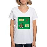 Rotisserie Chicken Rope Mak Women's V-Neck T-Shirt