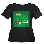 Rotisser Women's Plus Size Scoop Neck Dark T-Shirt