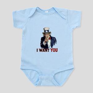 "Uncle Sam ""I Want You"" Infant Bodysuit"