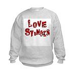 Love Stinks Kids Sweatshirt