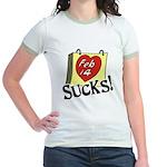 Anti Valentine's Day Jr. Ringer T-Shirt