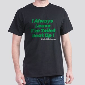 Toilet Seat Up T-Shirt, Green T-Shirt