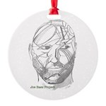 Joe's Face Round Ornament
