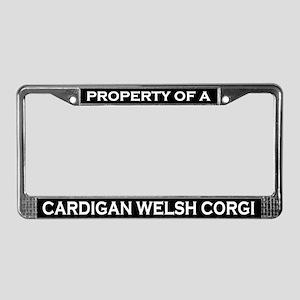 Property of Cardigan Welsh Corgi License Frame