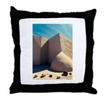 Rancho Taos Church Throw Pillow