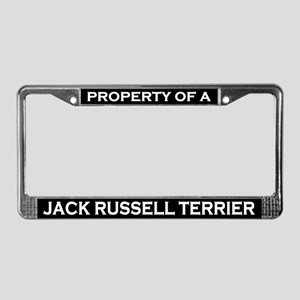 Property of Jack Russell License Plate Frame