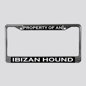 Property of Ibizan Hound License Plate Frame