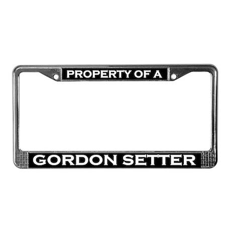 Property of Gordon Setter License Plate Frame