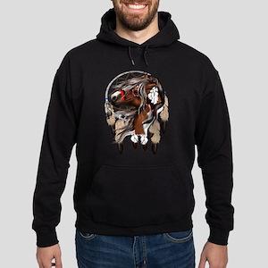 Paint Horse Dreamcatcher Hoodie (dark)
